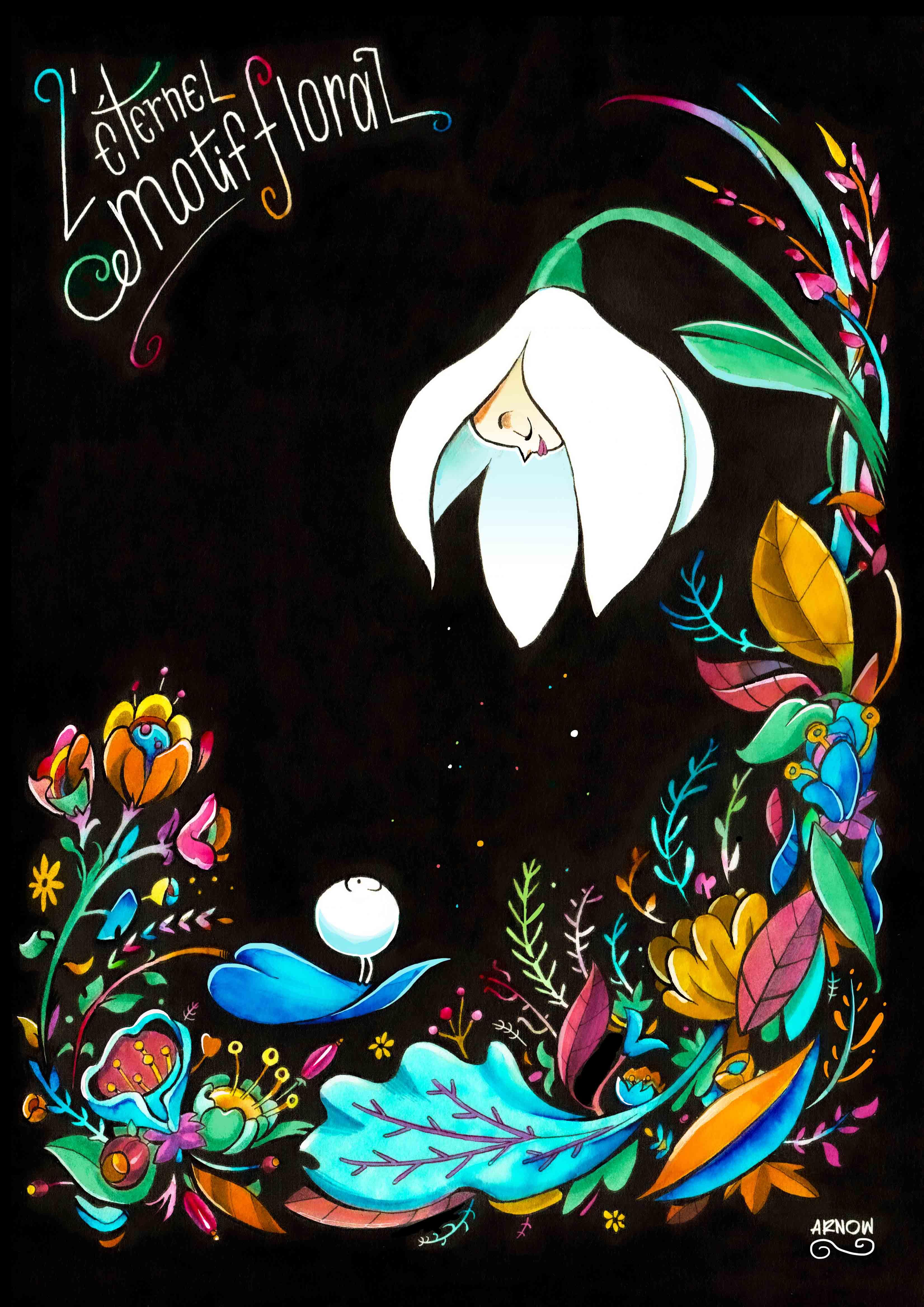 Motif des fleurs